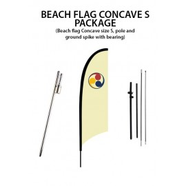 Beach flag Concave S package