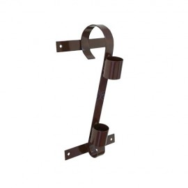 Single flag pole bracket, brown