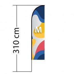 Beach flag Straight M