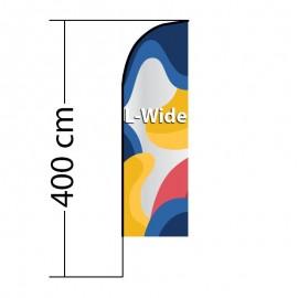 Beach flag Straight L-Wide