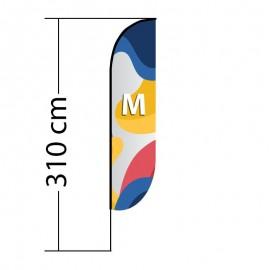 Beach flag Convex M