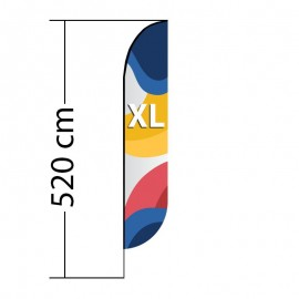 Beach flag Convex XL