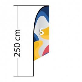 Beach flag Angled S