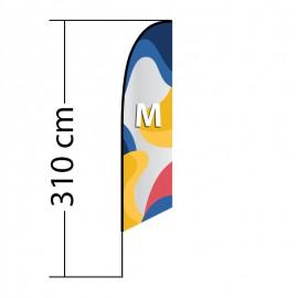 Beach flag Angled M
