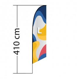 Beach flag Angled L