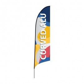 Beach flag Curved ALU