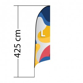 Beach flag Curved ALU L