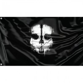 Ghost Flag Unique Print, 3x5 Ft / 90x150 cm size, EU Made
