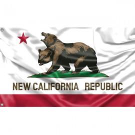 New California Republic Flag Unique Print, 3x5 Ft / 90x150 cm size, EU Made