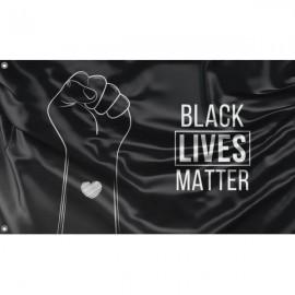 Black Lives Matter Flag Unique Print, 3x5 Ft / 90x150 cm size, EU Made