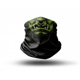 Washable Fabric Face Cover Neck Gaiter With Unique Print The Orc Design EU Made