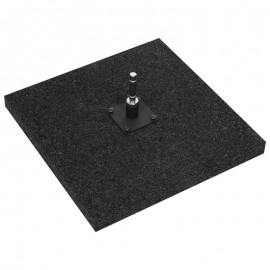 Rubber ground plate 50 x 50 cm (10,0 kg / 22,04 lbs)