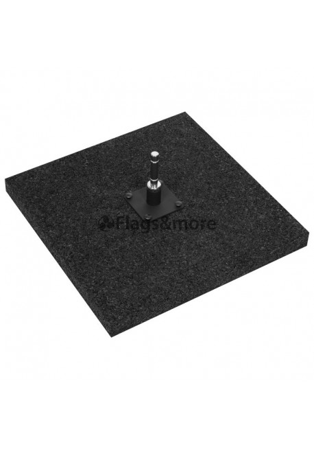 Rubber ground plate 50 x 50 cm