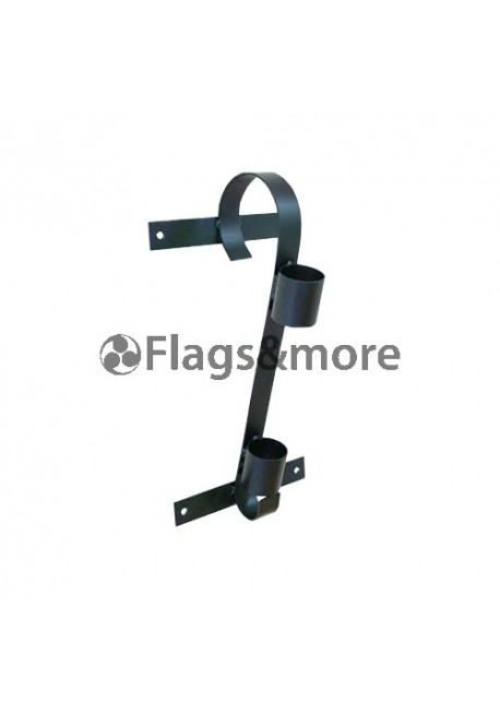 Single flag pole bracket, black