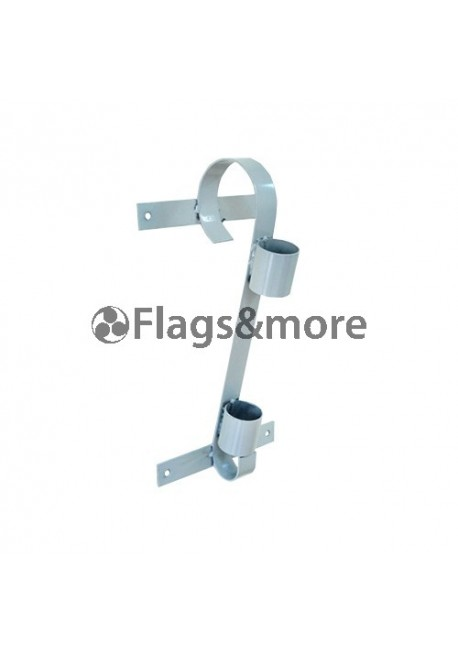 Single flag pole bracket, grey