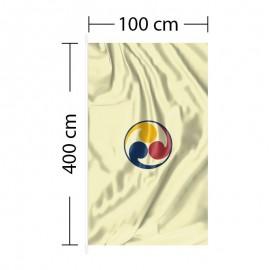 Vertical Flag 3ft 4in x 13ft 1in - 100 x 400cm