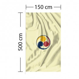 Vertical Flag 5ft x 16ft 5in - 150 x 500cm