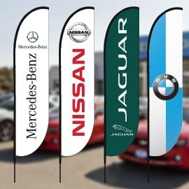 Auto Dealership Beach Flags