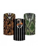 Face covers with prints