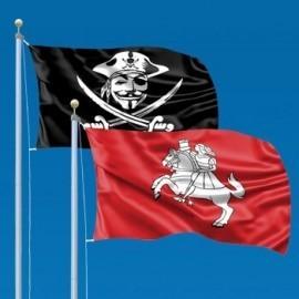 Flags with unique prints